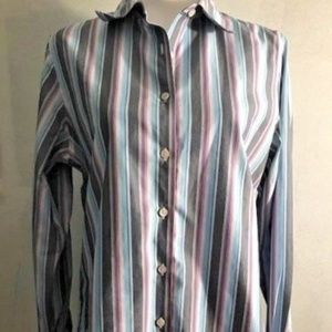 Foxcroft Striped Button Down Shirt